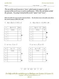 ex 11 recursive linear functions mathops