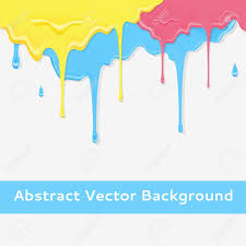 paint colorful dripping background in three color option