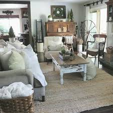 Livingroom Table by Farmhouse Living Room At Home On Sweetcreek Decoration For The