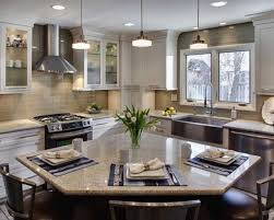 triangle kitchen island kitchen islands decoration l shaped kitchen layout with an arched overhang on the island small l shaped kitchens with islands google search
