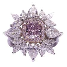 daimond ring fancy pink purple diamond ring for sale at 1stdibs