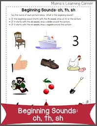 beginning sounds ch th sh mamas learning corner