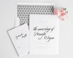 Calligraphy Wedding Invitations Bold Calligraphy Wedding Invitations In Gray U2013 Wedding Invitations