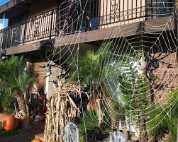 Halloween Decorations Outdoor Diy by Winsome Halloween Outdoor Decoration With Big Webs Part Of