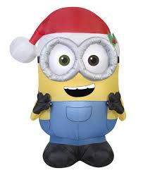 Lowes Halloween Inflatables by Minion Bob With Santa Hat From The Minions U0026 Despicable Me Movies