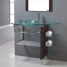 41 Bathroom Vanity Kokols Wf 41 32 In Tempered Glass Vessel Sink Bathroom Vanity