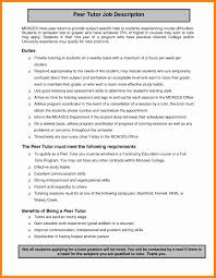 tutor job description for resume resume ideas