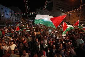 Palistinian Flag Palestinians Celebrate Hoisting Of Flag At Un Al Jazeera