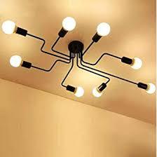 Bat Light Fixture Industrial Ceiling Light Sun Run Creative Retro 8 Light Fixture