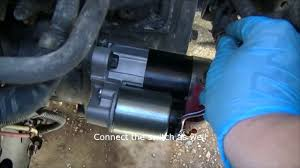 2002 nissan maxima how to replace the starter starter solenoid