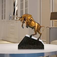 best and cheap golden unstoppable cattle handmade bronze sculpture
