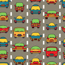 cars wrapping paper vector seamless pattern transportation cars stock vector