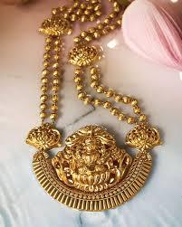 Buy Kasu Mala Lakshmi Ji Statement Necklace With Lakshmi Pendant By Tanishq Gold Jewellery