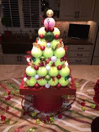 awesome christmas tree centerpiece made with tennis balls made for