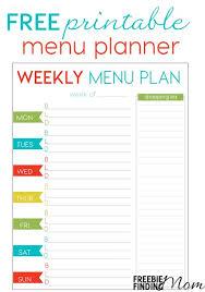 printable menu planner pages meal calendar template two week calendar template free printable