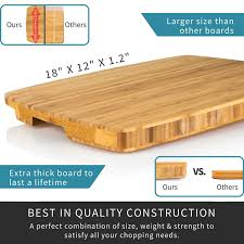amazon com extra large bamboo chopping block professional wood amazon com extra large bamboo chopping block professional wood end grain butcher block cutting board that last a lifetime chef approved thick chopping