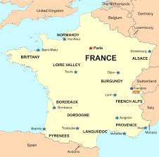 A Map Of France by Cyclomundo Blog