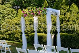 Wedding Arches Using Tulle Jessica And Sweeny U0027s Wedding At Cv Rich Mansion White Plains New