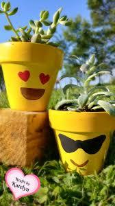 kraftsbykatelyn com emoji succulent flower planters