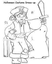 pirate costume halloween coloring pages free printable coloring