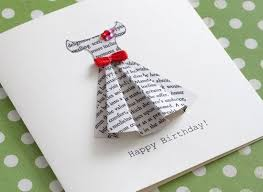 how to make a gorgeous greeting card out of the pages of