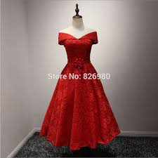 aliexpress com buy real pictures red lace vintage tea length