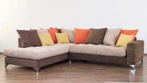 canapé d angle marron canapé d angle à gauche maxi corfu marron beige orange jaune