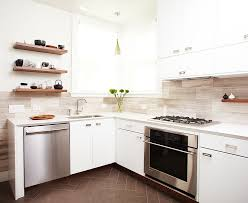 silver travertine kitchen contemporary with floral arrangement