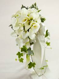 calla bouquet white calla cascade bouquet from flowers ie