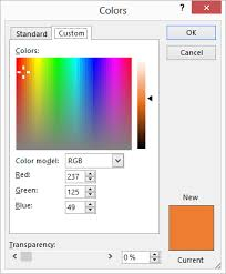 determining the rgb value of a color microsoft excel