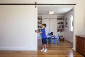 Diy Sliding Door Room Divider Sliding Door Room Divider Houzz With Regard To Rolling Door Room