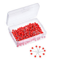 Map Tacks Outus Map Tacks Push Pins 1 8 Inch Small Size Red 300 Pieces Ebay