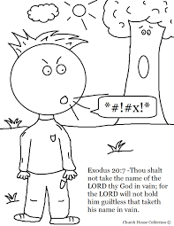 biblical coloring pages for toddlers commandment print ten clip art name of the lord thy god in