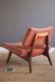 pair of walnut slipper chairs by jens risom at 1stdibs