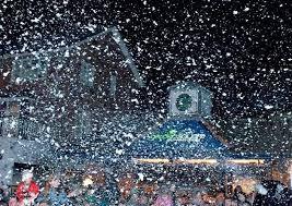 manificent decoration falling snow lights snowfall mr
