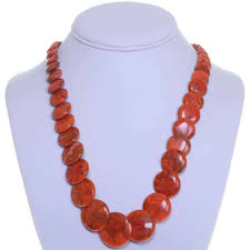 beaded coral necklace images Native american coral bead necklace 25178 jpg