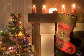 christmas stocking fireplace stock photos u0026 pictures royalty free