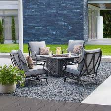 Patio Table With Firepit Pit Sets Outdoor Lounge Furniture The Home Depot