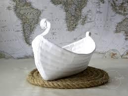 viking boat basket home decoration sea house lake house rustic