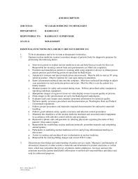 x ray technologist job description 17 resume sample x ray