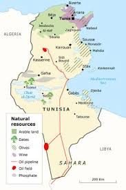 tunisia physical map tunisia lessons tes teach