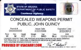 arizona concealed carry permit information concealed weapon