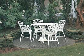 Wrought Iron Patio Chairs Patio Furniture Table And Chairs Image Of White Vintage Wrought