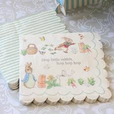 rabbit party supplies meri meri rabbit paper napkins partyware canada putti