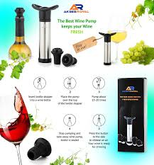 amazon com newest version wine saver vacuum pump preserver from