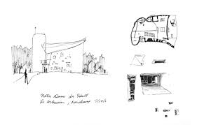 ronchamp arch drawings pinterest le corbusier