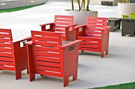 Red Club Chair Club Style Outdoor Chair With Modern Design Loll Designs