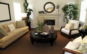 small fireplaces for small rooms with round wall mirrors and