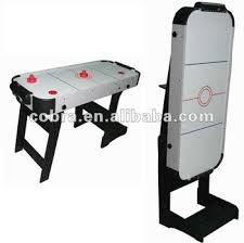Table Top Hockey Game Single Foldable Mdf Ice Air Hockey Table Hockey Game Table