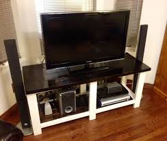 ana white tv table diy rustic x console console diy projects